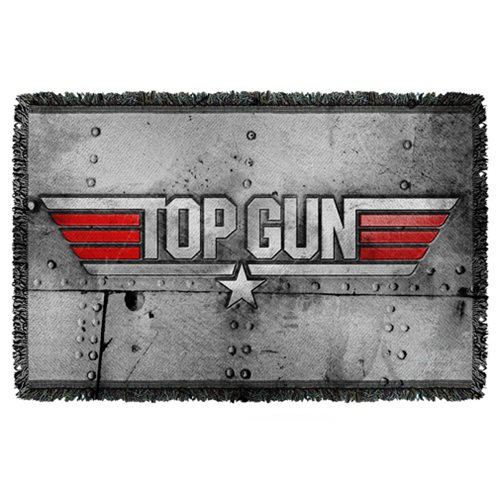 Top Gun Logo Woven Tapestry Throw Blanket