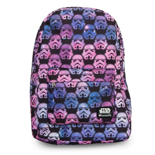 Star Wars Ombre Storm Trooper Head Print Backpack