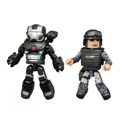 Marvel Minimates Civil War War Machine and Guard, Not Mint