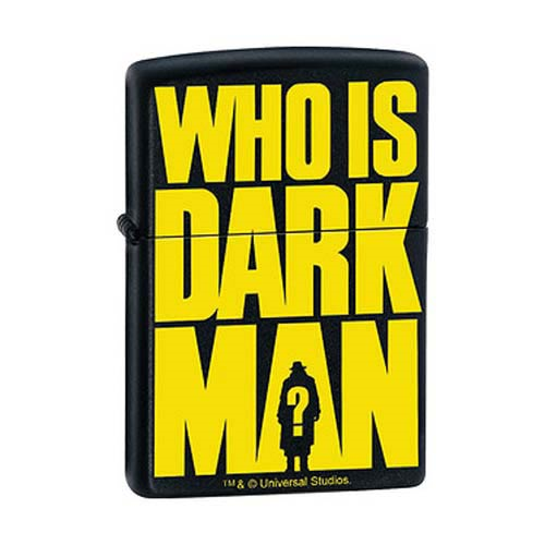 Darkman Who Is Darkman? Black Matte Zippo Lighter
