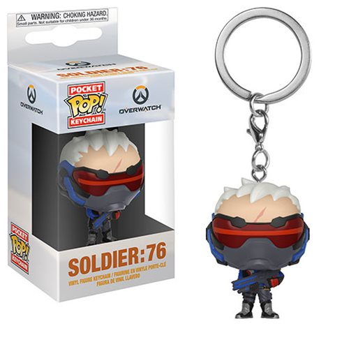 Overwatch Soldier 76 Pocket Pop! Key Chain