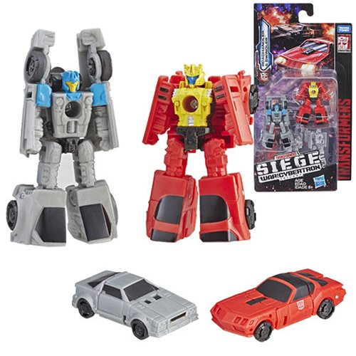Transformers Generations War for Cybertron: Siege Micromasters Autobot Race Car Patrol Roadhandler and Swindler