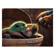Star Wars: The Mandalorian An Unlikely Friend by Christopher Clark Canvas Giclee Art Print