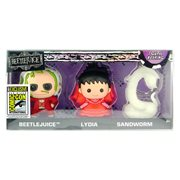 Beetlejuice 3D Figural Key Chain 3-Pack - San Diego Comic-Con 2017 Exclusive