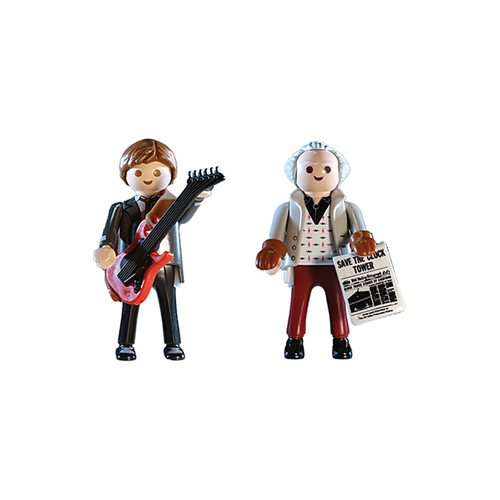 Playmobil 70459 Back to the Future Marty McFly and Dr. Emmett Brown Action Figures