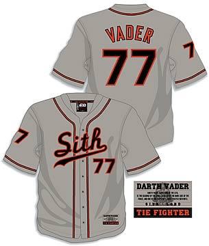 Star wars baseball jersey darth vader entertainment earth star wars baseball jersey darth vader malvernweather Choice Image