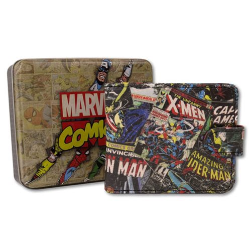 Marvel Comics Black Outside Print Wallet