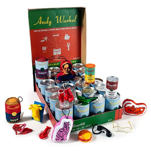 Andy Warhol Soup Can Series 2 Mini-Figures Display Tray