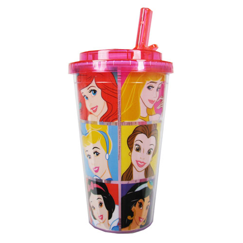 Disney Princesses Grid 16 oz. Flip Straw Travel Cup