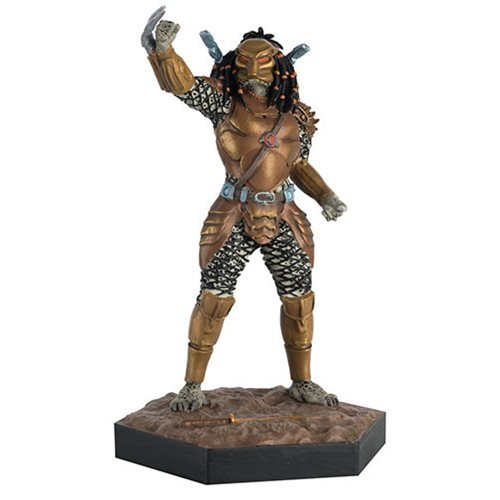 Alien and Predator War Top Knot Predator Statue with Collector Magazine #48