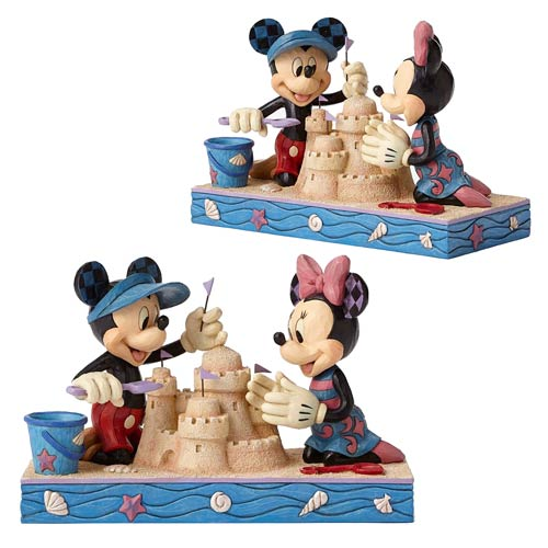 Disney Traditions Mickey Mouse and Minnie Mouse Seaside Sweethearts Statue