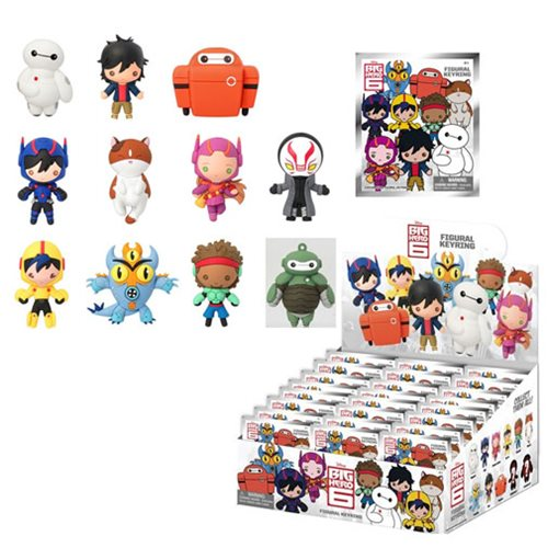 Disney Big Hero 6 Figural 3-D Key Chain Display Box