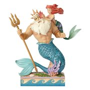 Disney Traditions The Little Mermaid Ariel and Triton Daddy's Little Princess Statue by Jim Shore