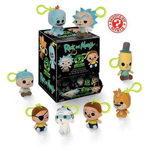 Rick and Morty Mystery Minis Plush Key Chain Display Case