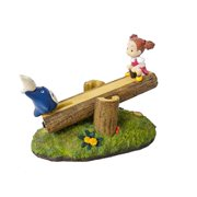 My Neighbor Totoro Totoro and Mei On See Saw Statue