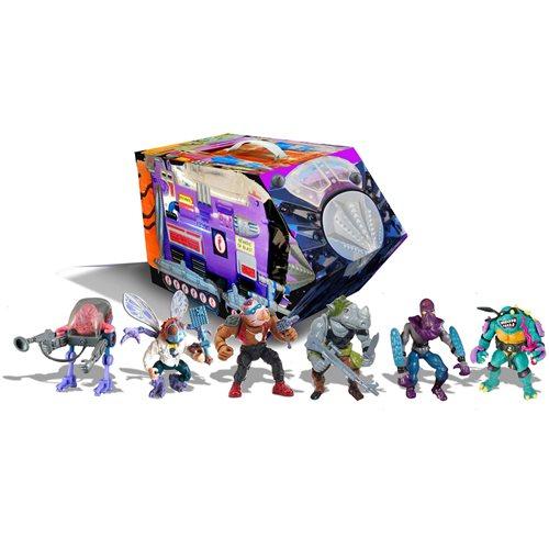 TMNT Retro Villains Mutant Module Rotocast Figure 6-Pack PX