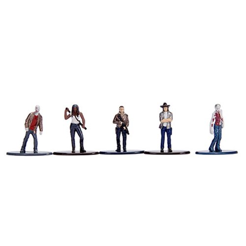 Walking Dead Nano Metalfigs Die-Cast Mini-Fig. 5-Pack Set