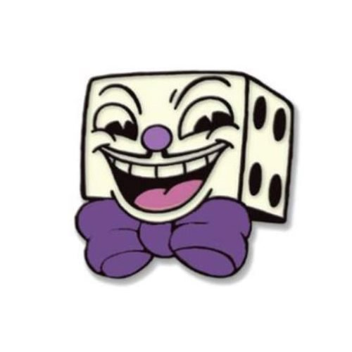 Cuphead Dice Man Enamel Pin