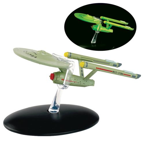 Star Trek Starships U.S.S. Defiant GITD Interphase Vehicle with Collector Magazine #6