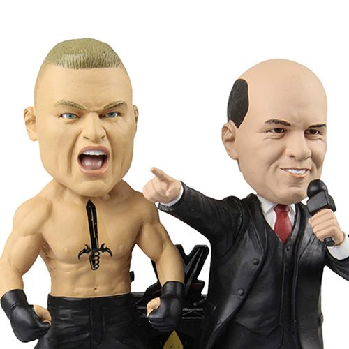 WWE Brock Lesnar and Paul Heyman Dual Bobble Head