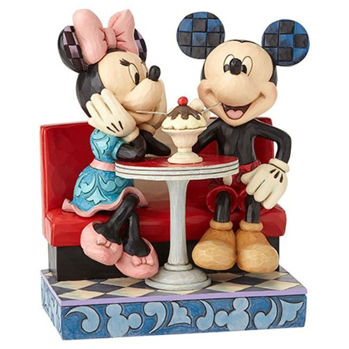 Disney Traditions Mickey Mouse and Minnie Mouse at Soda Shop Love Comes in Many Flavors by Jim Shore