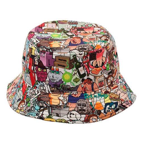 Rick and Morty All Over Print Bucket Hat