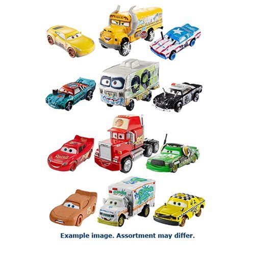Cars 3 Die-Cast Metal Vehicles 3-Pack Case