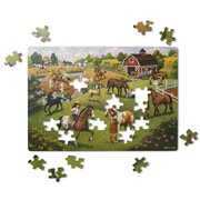 Melissa & Doug Natural Play Horse Adventure 100-Piece Jigsaw Puzzle