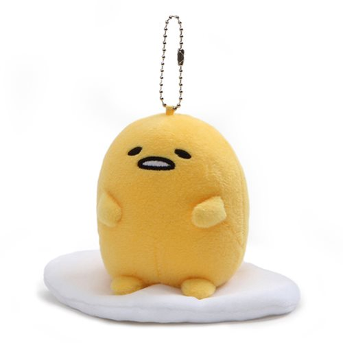 Gudetama Sitting Up Plush Key Chain