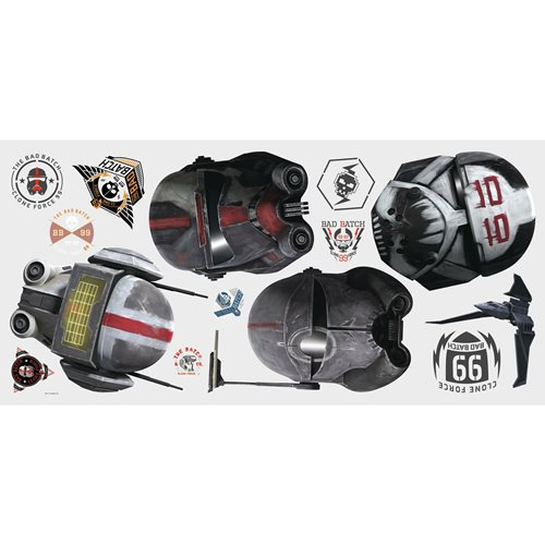 Star Wars: The Bad Batch Helmets Giant Wall Decals