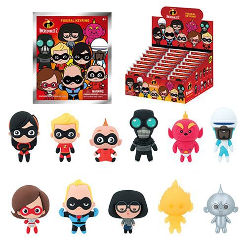 Incredibles 2 3D Figural Key Chain Random 6-Pack