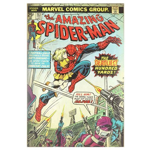 Spider-Man Deadliest Hundred Yards Wood Wall Sign