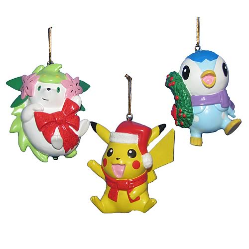 Pokemon Christmas Ornaments.Pokemon 3 1 2 Inch Resin Ornaments Set