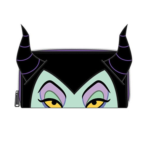 Sleeping Beauty Maleficent Face Zip-Around Wallet