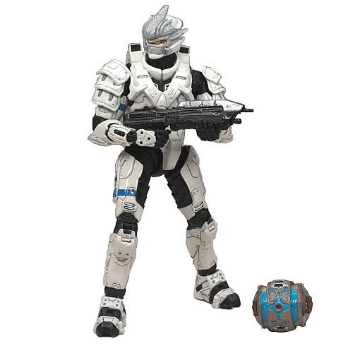 Halo Series 5 White Hayabusa Spartan Soldier Action Figure