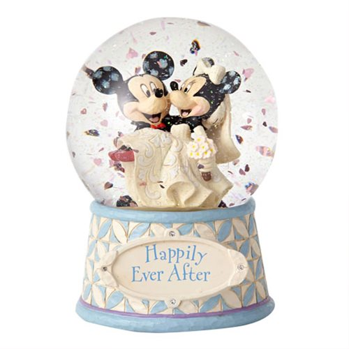 Disney Traditions Mickey and Minnie Mouse 6 1/2-Inch Water Globe