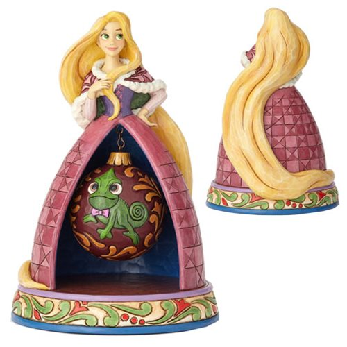 Disney Traditions Tangled Rapunzel Christmas Tidings of Joy Statue