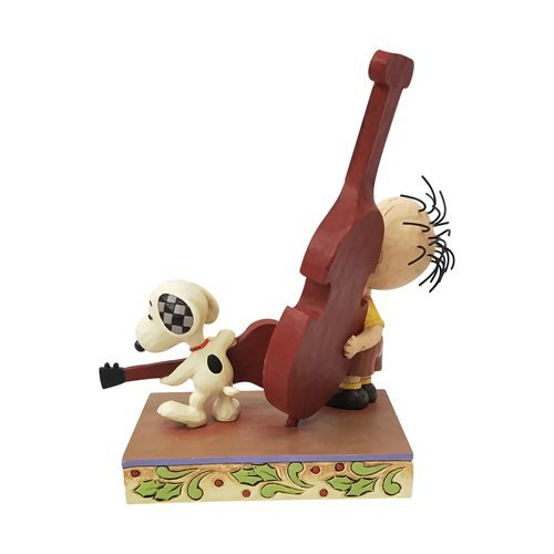 Peanuts Snoopy Playing Guitar Merry Melody Statue by Jim Shore