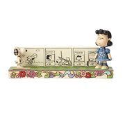 Peanuts Jim Shore Snoopy and Lucy Comic Strip Statue