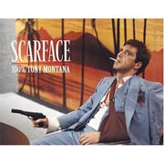 Scarface 100% Tony Montana Glass Poster