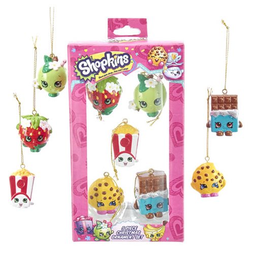 Shopkins Mini Ornament 5-Pack Set
