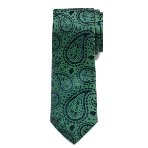 Star Wars Yoda Paisley Boys Large Silk Tie