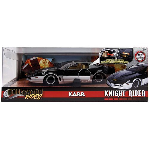 Hollywood Rides Knight Rider KARR 1982 Pontiac Trans Am 1:24 Scale Die-Cast Metal Vehicle with Light