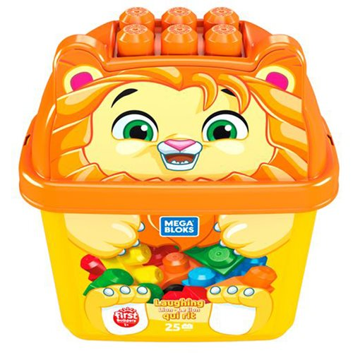 Mega Bloks Laughing Lion Animal Bucket