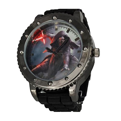 Star Wars: Episode VII - The Force Awakens Kylo Ren Black Silicone Strap Watch