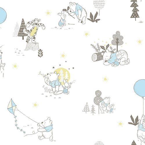 Winnie the Pooh Playmates Peel and Stick Wallpaper