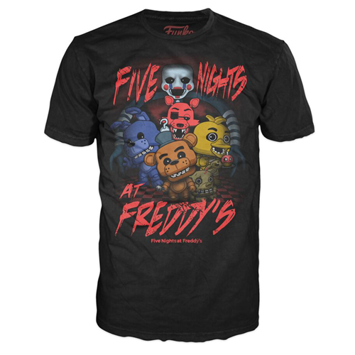 Five Nights at Freddy's Group Youth Black T-Shirt