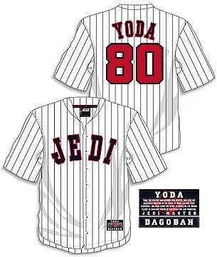 Star wars baseball jersey yoda entertainment earth star wars baseball jersey yoda malvernweather Choice Image