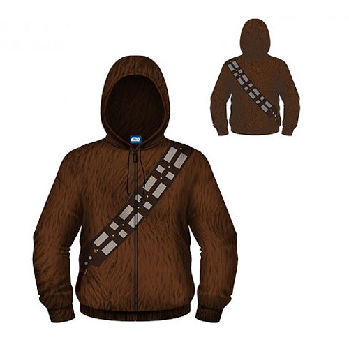 Star Wars Chewbacca Hooded Costume Fleece Zip-Up Hoodie