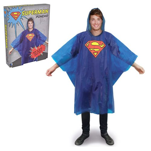 Superman Logo Rain Poncho